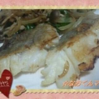 ★基本の白身魚ムニエル★野菜ときのこ添え★