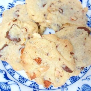 水あめ入りでしっとりチョコナッツクッキー