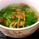レタスとなめこスープ