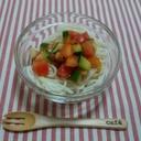 さっぱり!おいしい!夏野菜の和風イタリアンひやむぎ