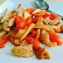 鶏肉とエリンギのトマト炒め