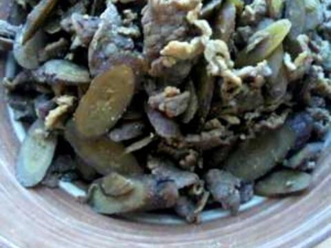 牛肉とごぼうの佃煮風