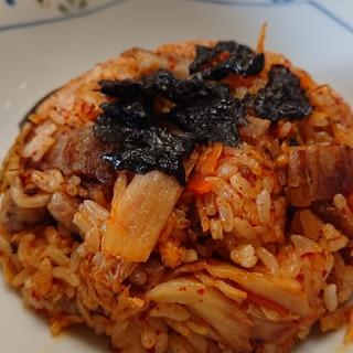 豚バラキムチ炒飯