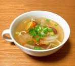 さつまいも入りでほくほく和風スープ