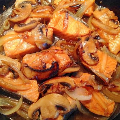 生鮭とマッシュルームの照り焼き Salmon