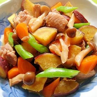さつまいもとにんじん鶏肉の煮物