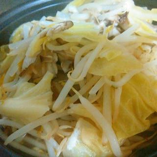 キャベツとモヤシ舞茸のホットサラダ