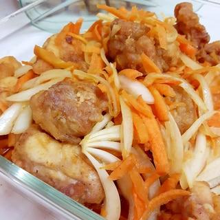 鶏唐揚げの南蛮酢(^^)with人参&玉ねぎ♪