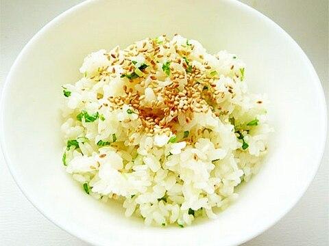 水菜のサラダ風混ぜご飯