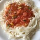 ダイエット☆冷凍トマトのアジアン麺