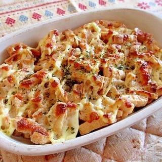 納豆と油揚げの豆腐クリームグラタン♪