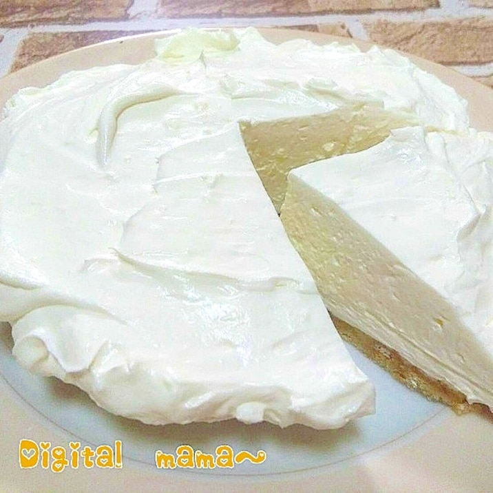 【ズボラさんが時短で作る♪】超濃厚レアチーズケーキ