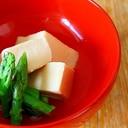 高野豆腐とアスパラの煮もの