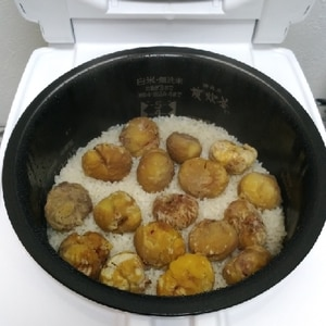 炊飯器☆簡単!栗おこわ