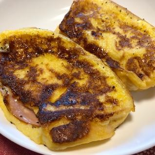 甘じょっぱい♪ハムチーズフレンチトースト