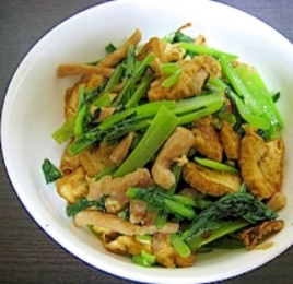 豚と小松菜のカレー炒め