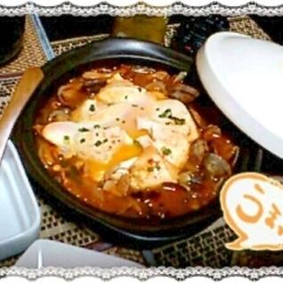 キムチ鍋の素で簡単スンドゥブチゲ♪