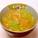 長いもと長ネギの味噌汁