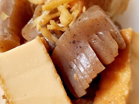 厚揚げとコンニャクの甘辛生姜煮