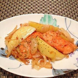 美味しい♪鮭とポテトのマヨバター炒め☆
