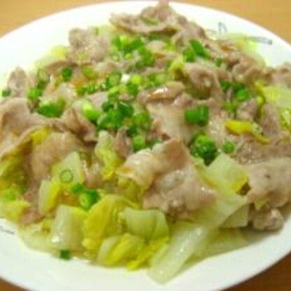 豚バラと白菜のフライパン蒸し