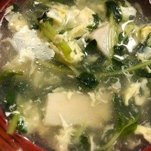 ささっと簡単・豆苗スープ☆