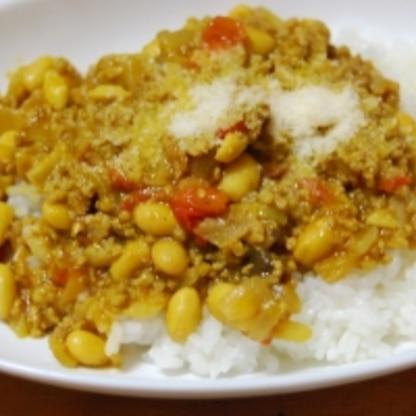 簡単にできる豆とひき肉カレー