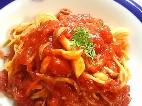 簡単!きのこのトマトパスタ