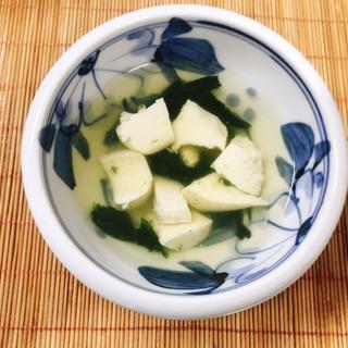 【離乳食後期】豆腐とほうれん草のすまし汁
