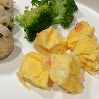 手づかみ食べに☆レンジで簡単焼かない卵焼き