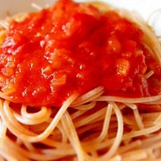 定番♪アンチョビのトマトソース・パスタ