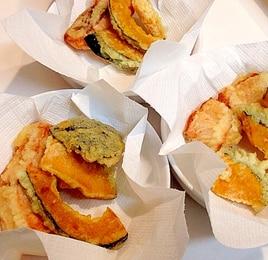 秋の味覚☆秋鮭とカボチャの天ぷら