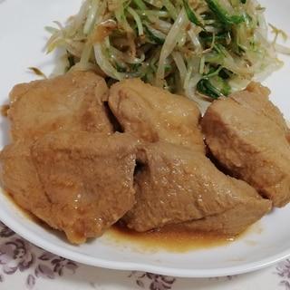 レンジで簡単作りおき♪煮豚のニンニク味噌だれ