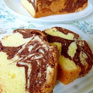 ココアマーブルのパウンドケーキ