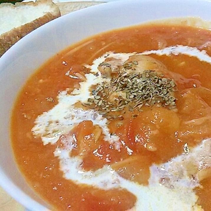 トマト缶&手羽元で!ほろほろチキンのトマト煮込み