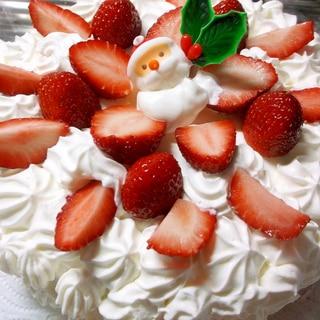 市販のスポンジケーキで簡単いちごのケーキ☆