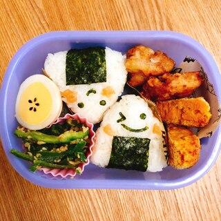 ★今週のお弁当★夏に負けるな!おにぎり弁当♡