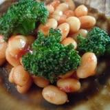 洋風☆大豆とブロッコリーのコンソメケチャップ煮