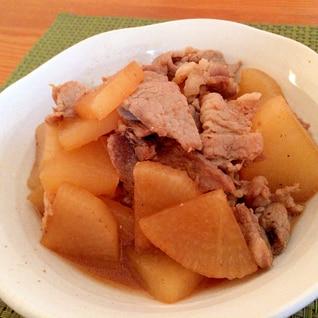 豚小間肉と大根の炒め煮