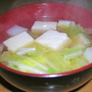 白菜と豆腐の和風スープ