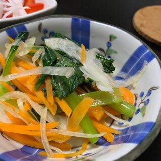 にんじんと小松菜のナムル
