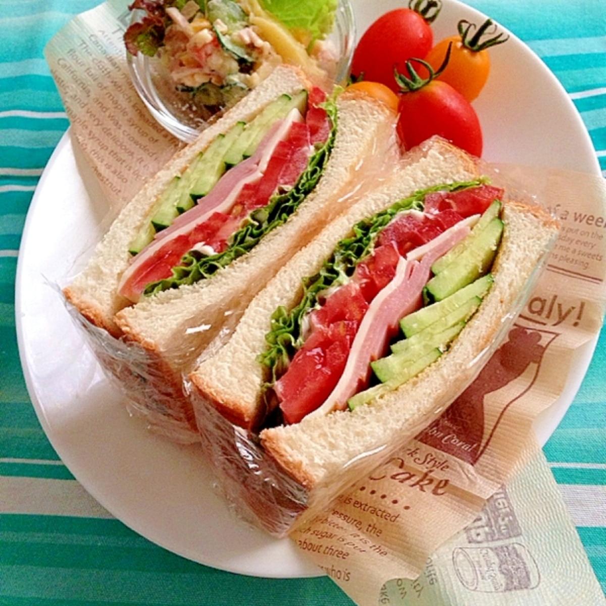 簡単 サンドイッチ 弁当
