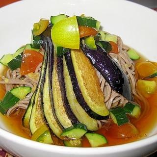 ひんやり夏の野菜蕎麦