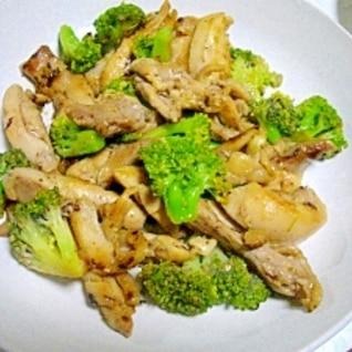 鶏もも肉とブロッコリーの塩麹炒め