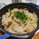 ストウブDe〜あさりとごぼう、豚ひきの炊き込みご飯