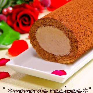 HMで簡単♡ふわふわ濃厚チョコレートロールケーキ