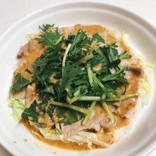 レンジで♪白菜と豚肉の蒸ししゃぶ