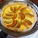 無水鍋で簡単!かぼちゃカスタードタルト