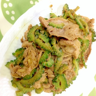 ゴーヤと豚肉のカレーマヨ炒め