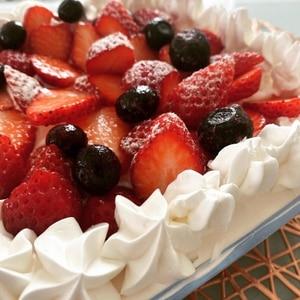 簡単ショートケーキ風スコップケーキ口金&ナッペ不要